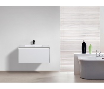 Prado White 750mm wall hung