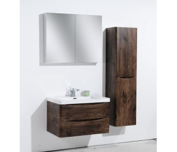 Ancona 1200 mm Single, Wall Hung, Rose Wood