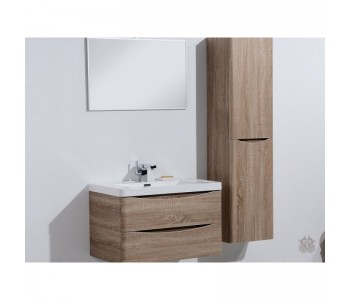 Ancona 900mm Wall Hung White Oak