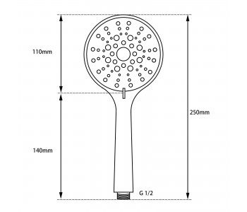 Chrome 3 Functions Round Handheld Shower Only