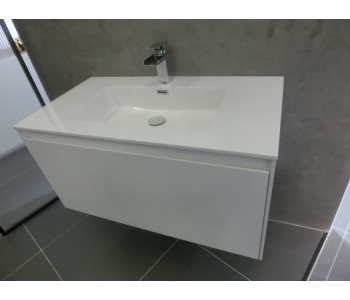 Prado Gloss White 1200mm wall hung
