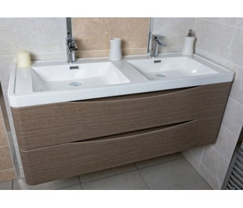 Ancona 1200 mm Single\Double Wall Hung Rose Wood
